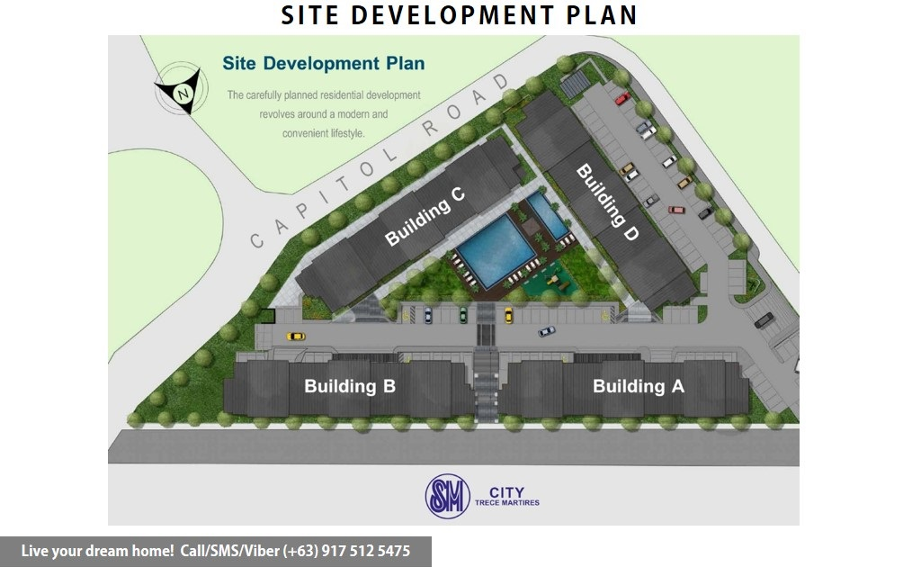 Site Development Plan | SMDC Hope Residences - Flexi Studio Suite End | Condominium for Sale Trece Martires Cavite