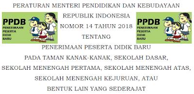 PPDB TK, SD, SMP, SMA, SMK dan Yang Sederajad Tahun 2018/2019