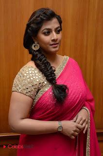 Actress Varalakshmi Pictures in Pink Saree at Madha Gaja Raja Audio Launch  0001