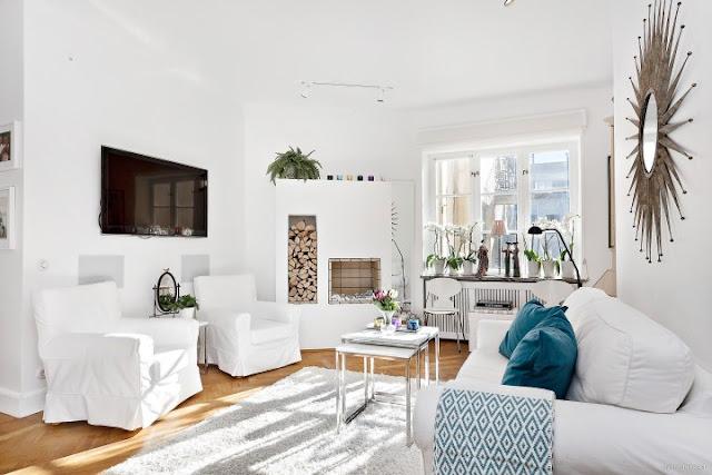 Accente și motive vesele într-un apartament de 61 m²