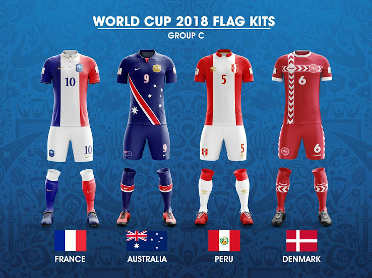 32 Stunning World Cup Flag Kit Concepts Revealed - Footy Headlines a58f86c08