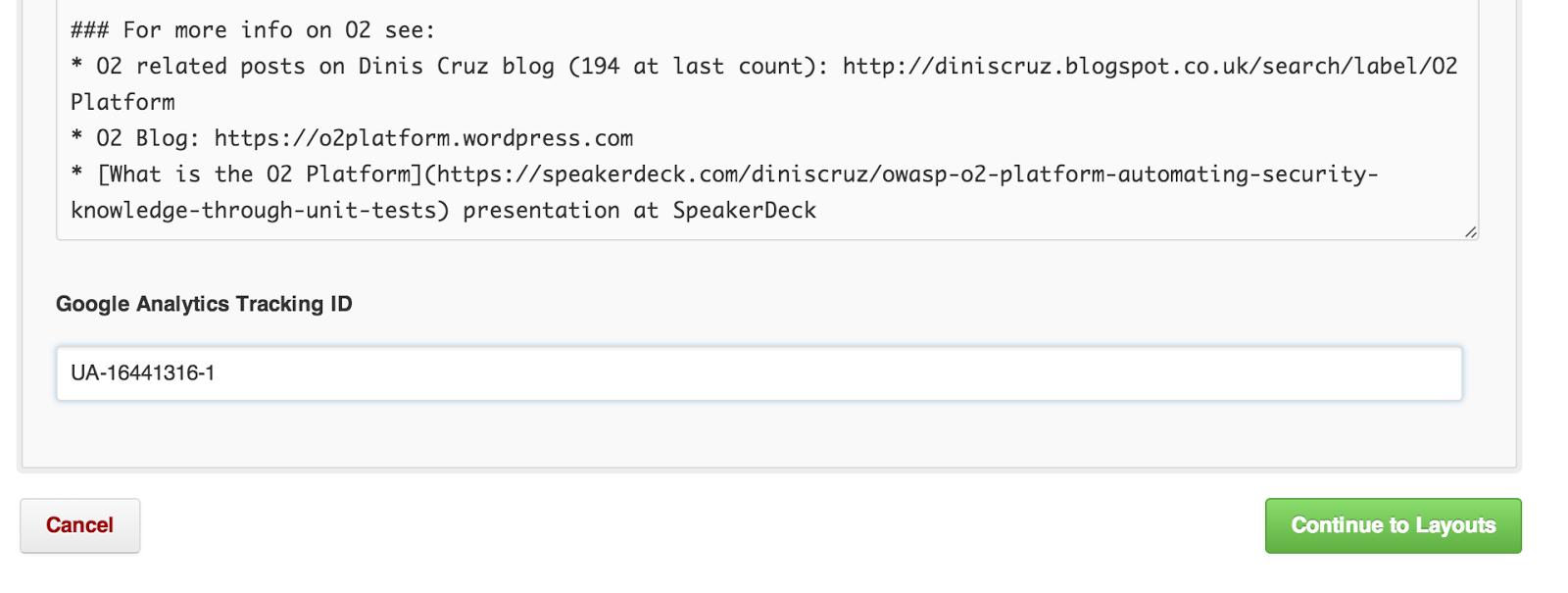 Dinis Cruz Blog: Creating o2platform com website using