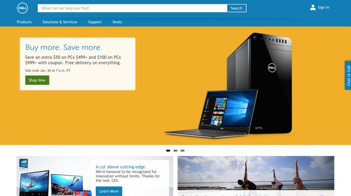homepage sito dell 2017