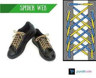 Cara Mengikat Tali Sepatu Spider Web