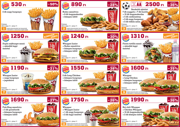 Spórolós Blog: Burger King nyomtatható kuponok
