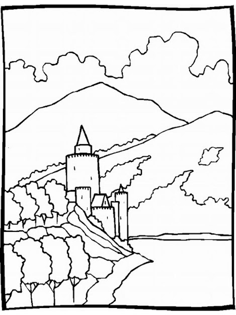 Nature Scenes Coloring Pages