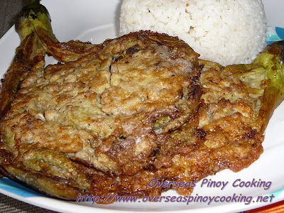 Tortang Talong na may Giniling