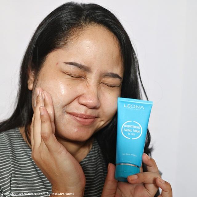 Pemakaian Leona Facial Wash