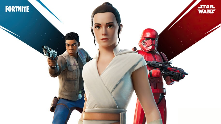 Rey, Sith Trooper, Finn, Fortnite, Skin, Outfit, 4K, #3.1511