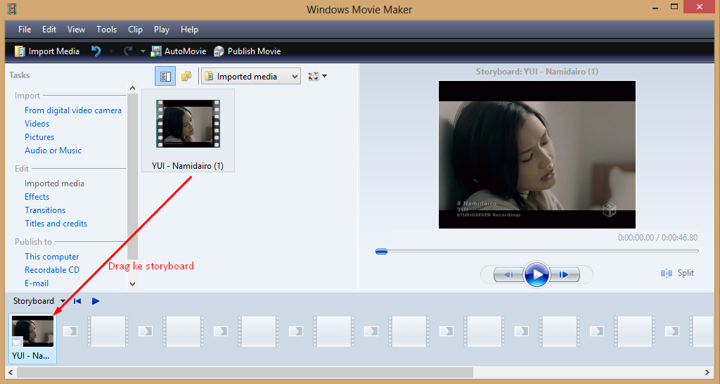 Cara Memotong Video Dengan Windows Movi Maker 5