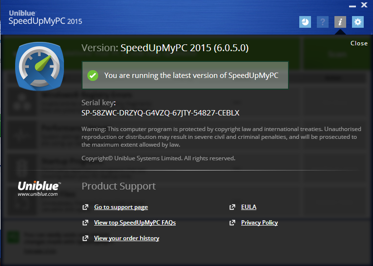 Uniblue SpeedUpMyPC 2015 6.0.8.0 Full Version