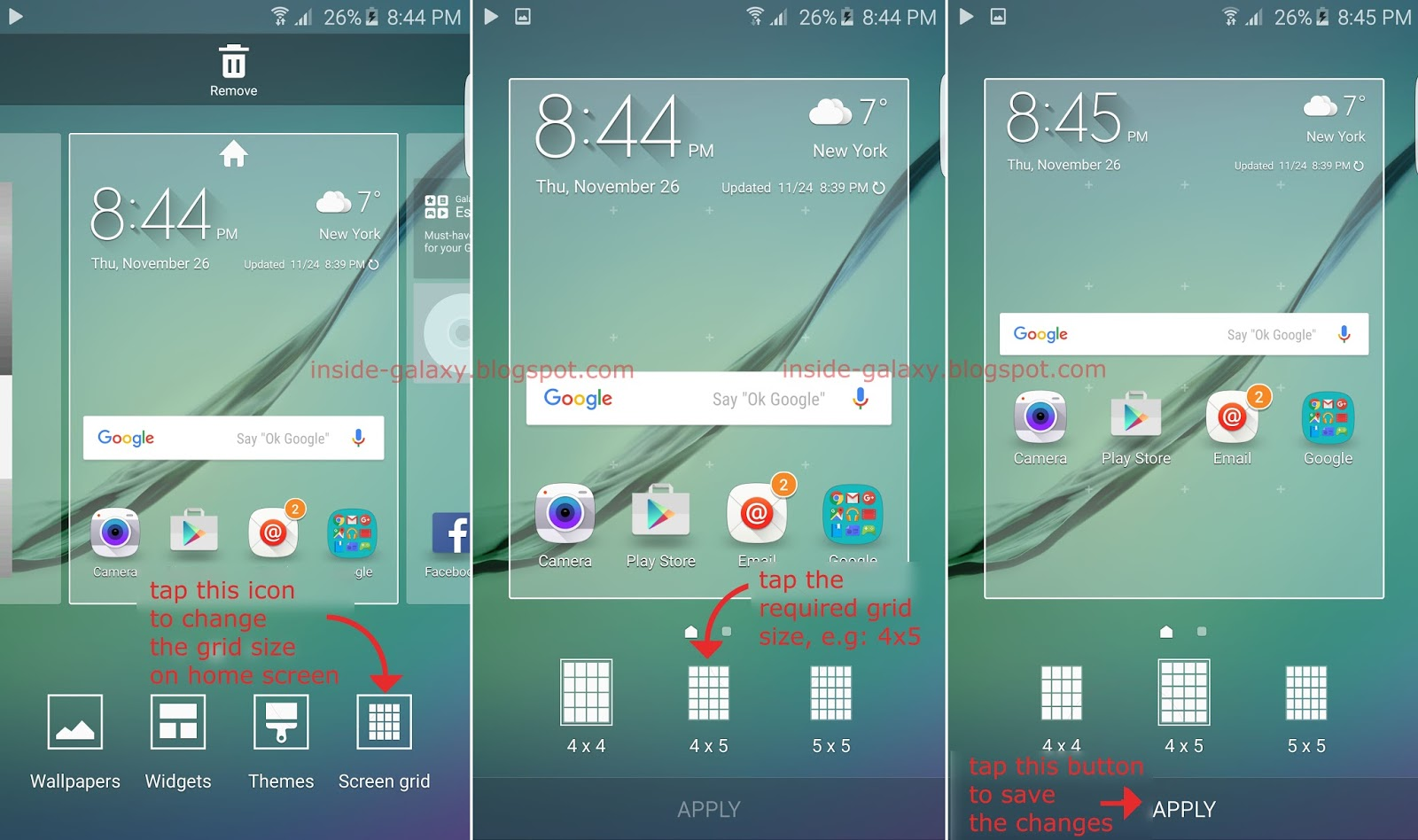 Samsung Galaxy S6 Edge: How to Change the Grid Size on Home Screen