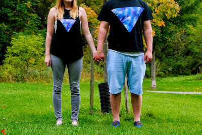 His and Hers Galaxy Shirts