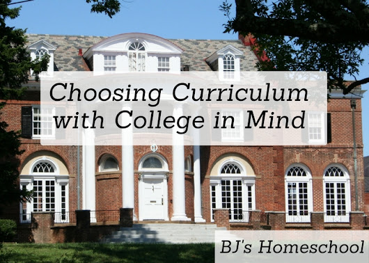 Choosing High School Curriculum with College in Mind