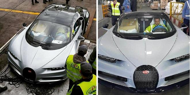 """السيارة """"بوجاتي"""" الأغلى في العالم تصل المغرب"""