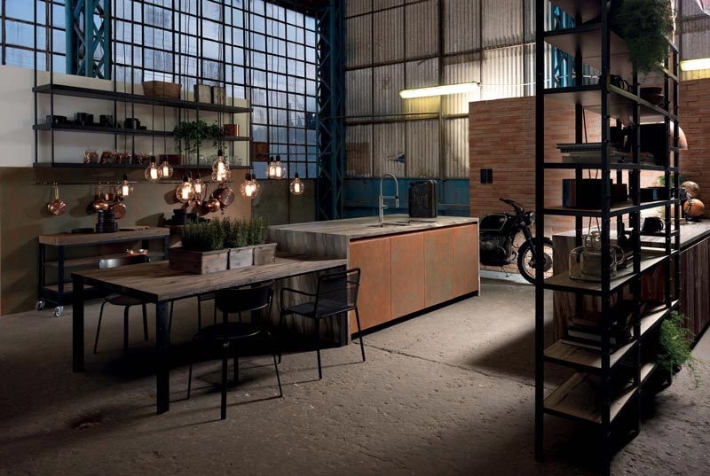 cucina stile industriale FACTORY by Aster