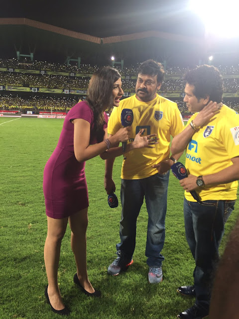 Megastar Chiranjeevi, sachin at kbfc football game