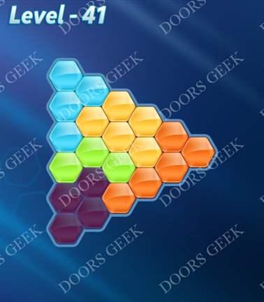 Block! Hexa Puzzle [Rainbow A] Level 41 Solution, Cheats, Walkthrough for android, iphone, ipad, ipod