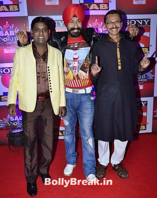 Tanuj Mahashabde, Gurucharan Singh and Shyam Pathak, SAB Ke Anokhe Awards Photo Gallery