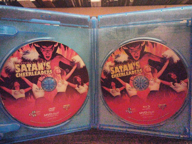 The blu-ray and dvd of Satan's Cheerleaders from VCI Entertainemt