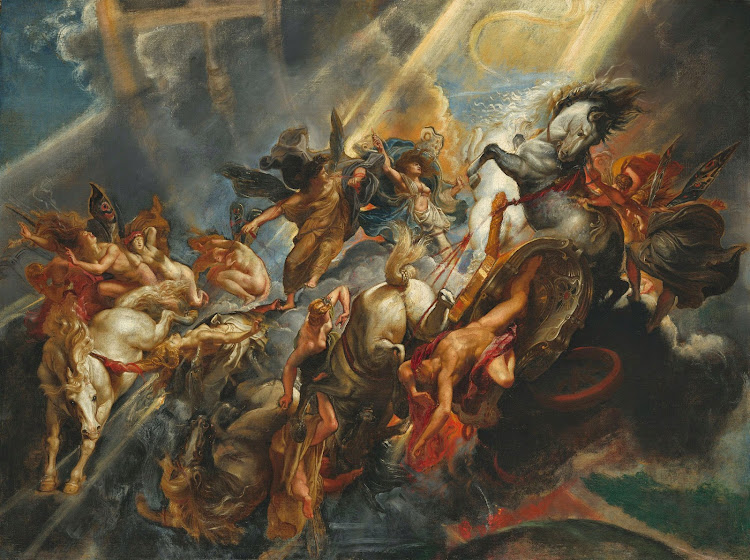 The Fall of Phaeton by Flemish Painter Peter Paul Rubens - c1604