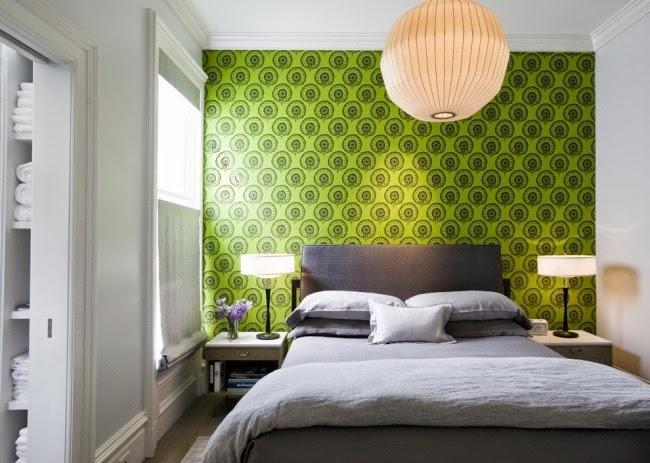cuarto en gris y verde