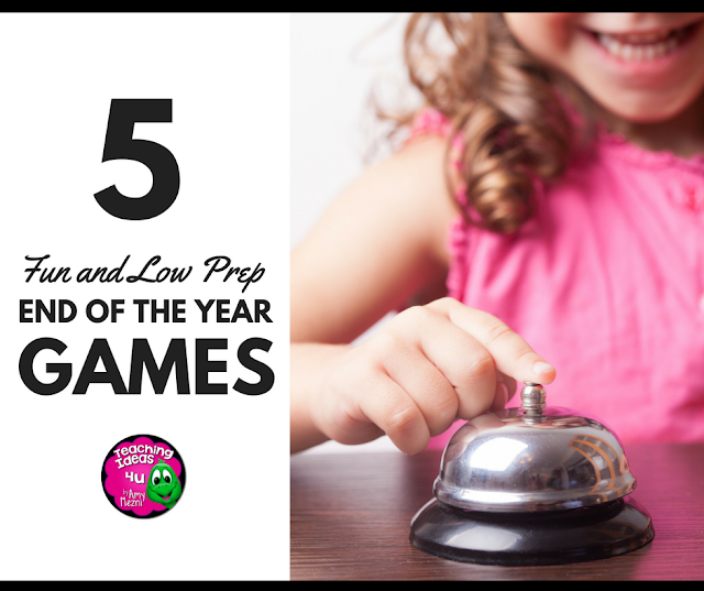 Keep students learning at the end of the year but playing games! Read about five fun but low prep games that teachers could use in upper elementary, middle school, or even high school grades.