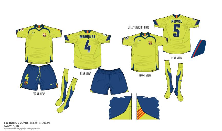 watch d6a4a 22634 Football teams shirt and kits fan: FC Barcelona 2005-06 Away ...