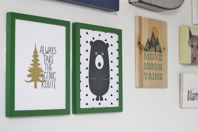 Kid's Camp Themed Playroom Gallery Wall by Delightfully Noted