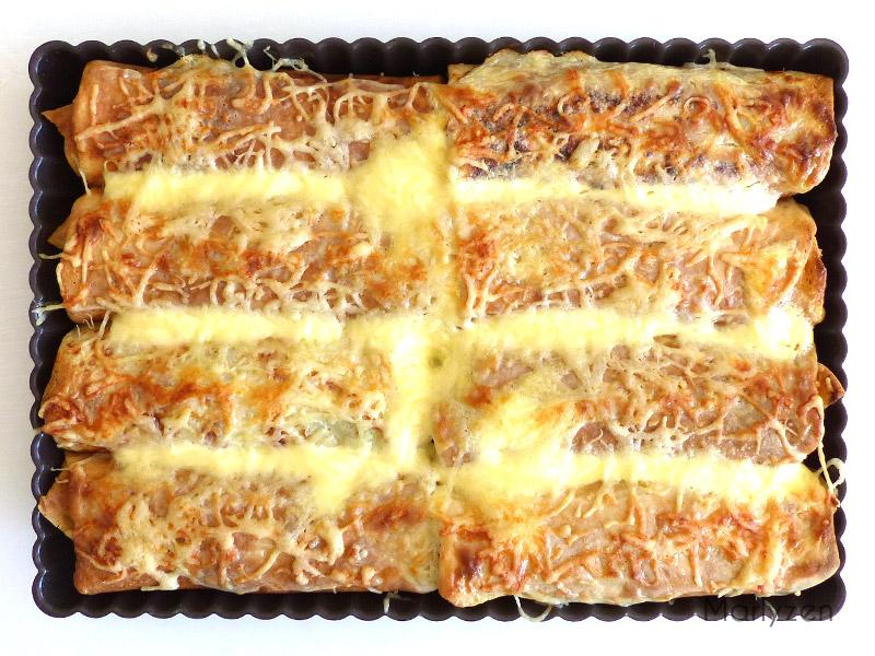 Ficelles picardes après cuisson.