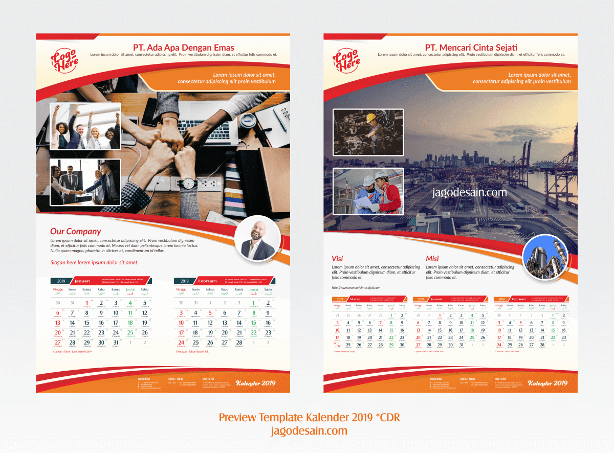 Download Template Kalender 2019 Gratis