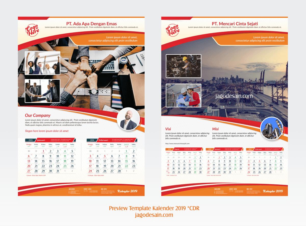 Template Kalender 2019 Gratis