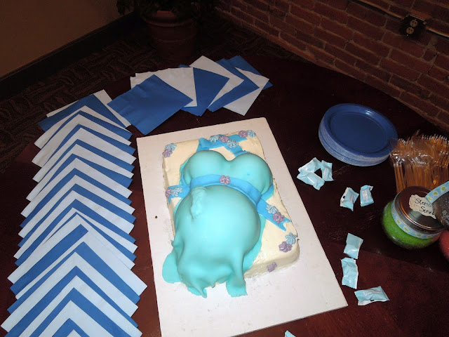 Sisters On Blackwell Pregnant Belly Cake
