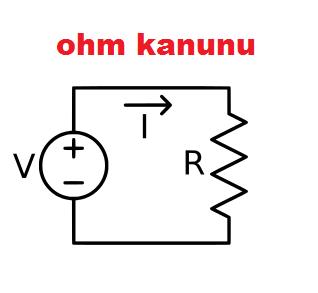 ohm kanunu temel formülü