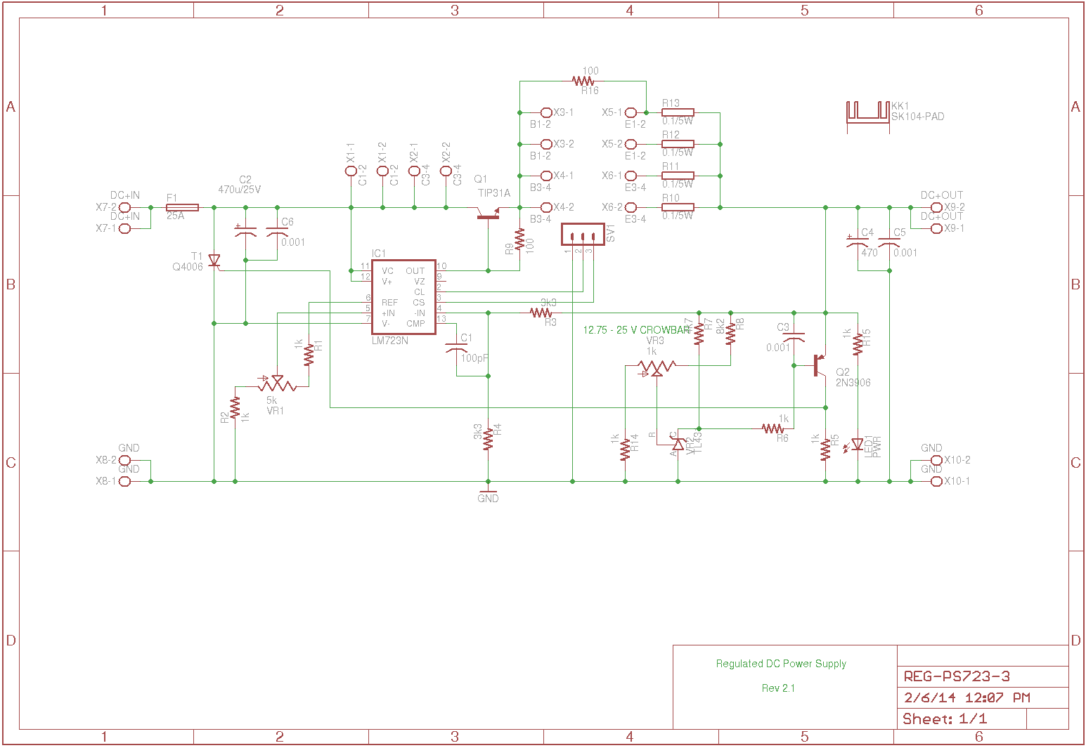 25a Ic Regulated Dc Power Supply Nw Putras Log And Here Is The Component Layout Reg Ps723 3brd