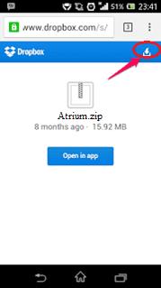 Cara Mudah Download File di DropBox Melalui Android