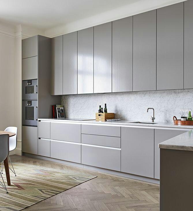 Contoh Gambar Desain Kitchen Set Lurus Furniture Kitchen Set