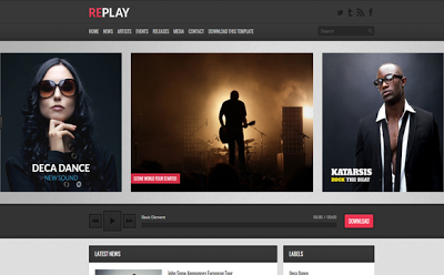 Replay Blogger Template