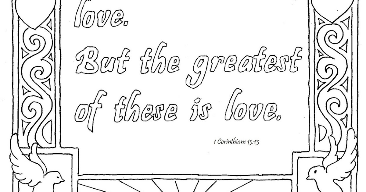 Coloring Pages for Kids by Mr. Adron: 1 Corinthians 13:13