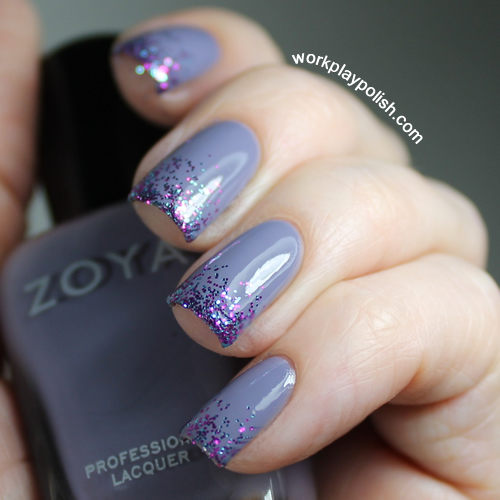 Zoya Caitlin and Sinful Colors Frenzy Gradient Nail Art