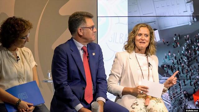 La alcaldesa, en la presentación de los actos paralelos a la gala MTV