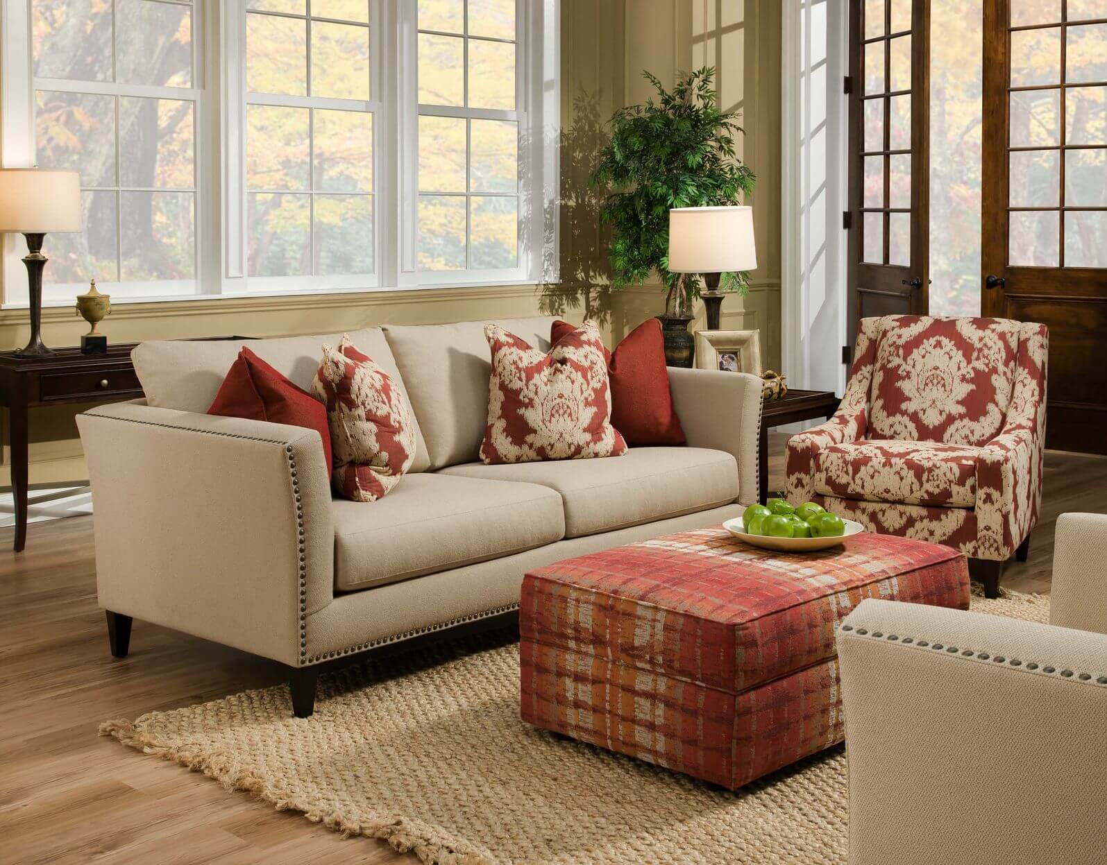 Point of your living room as well as complete the main seats such as sofa or couch these chairs with ottomans can be also applied as nice decorations
