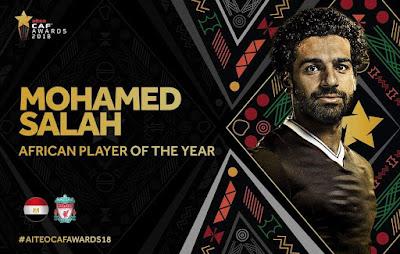 محمد صلاح أفضل لاعب في أفريقيا عام ٢٠١٨