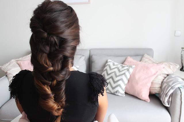 peinado fácil trenza sirena para bodas