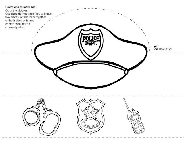 Community Helpers Printable Paper Hats