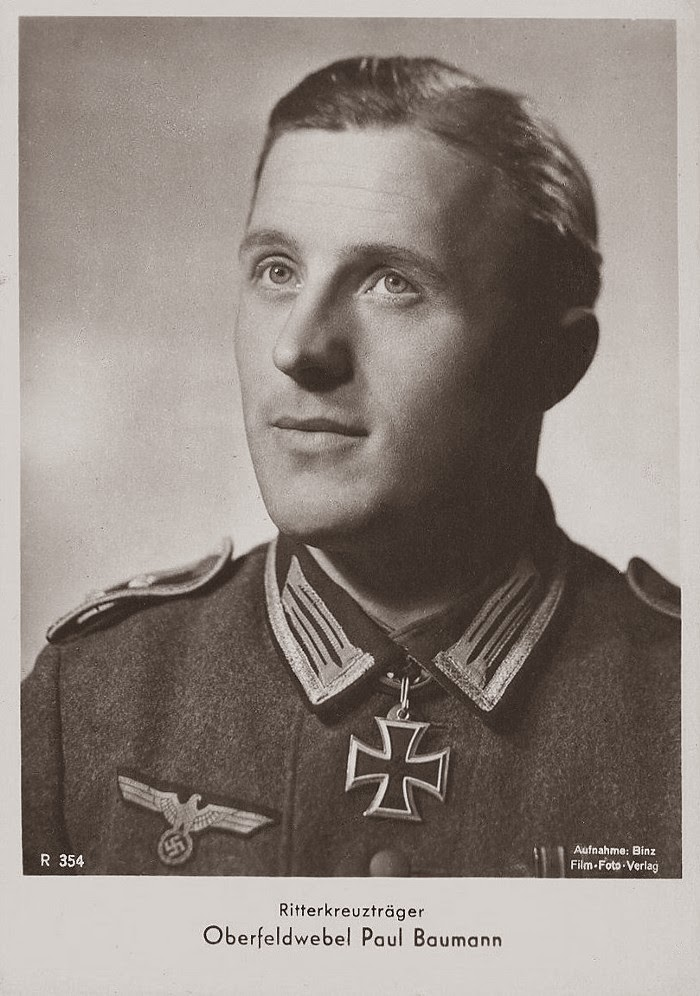 Paul Baumann Ritterkreuzträger Knight Cross Holder Postcard