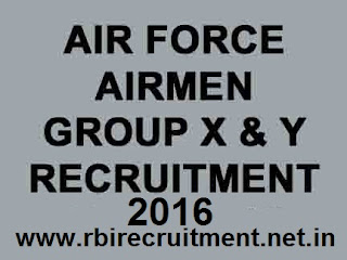 IAF Group X Y Recruitment 2016 Airman Indian Air Force Technical & Non-Technical Vacancies jobs Apply Online @ airmenselection.gov.in
