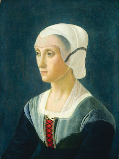 Domenico Ghirlandaio's portrait of Lucrezia Tornabuoni, painted in around 1475