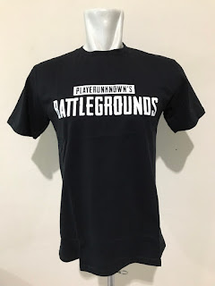 Baju Kaos Tshirt Gaming PUBG PLAYERUNKNOWN'S BATTLEGROUNDS