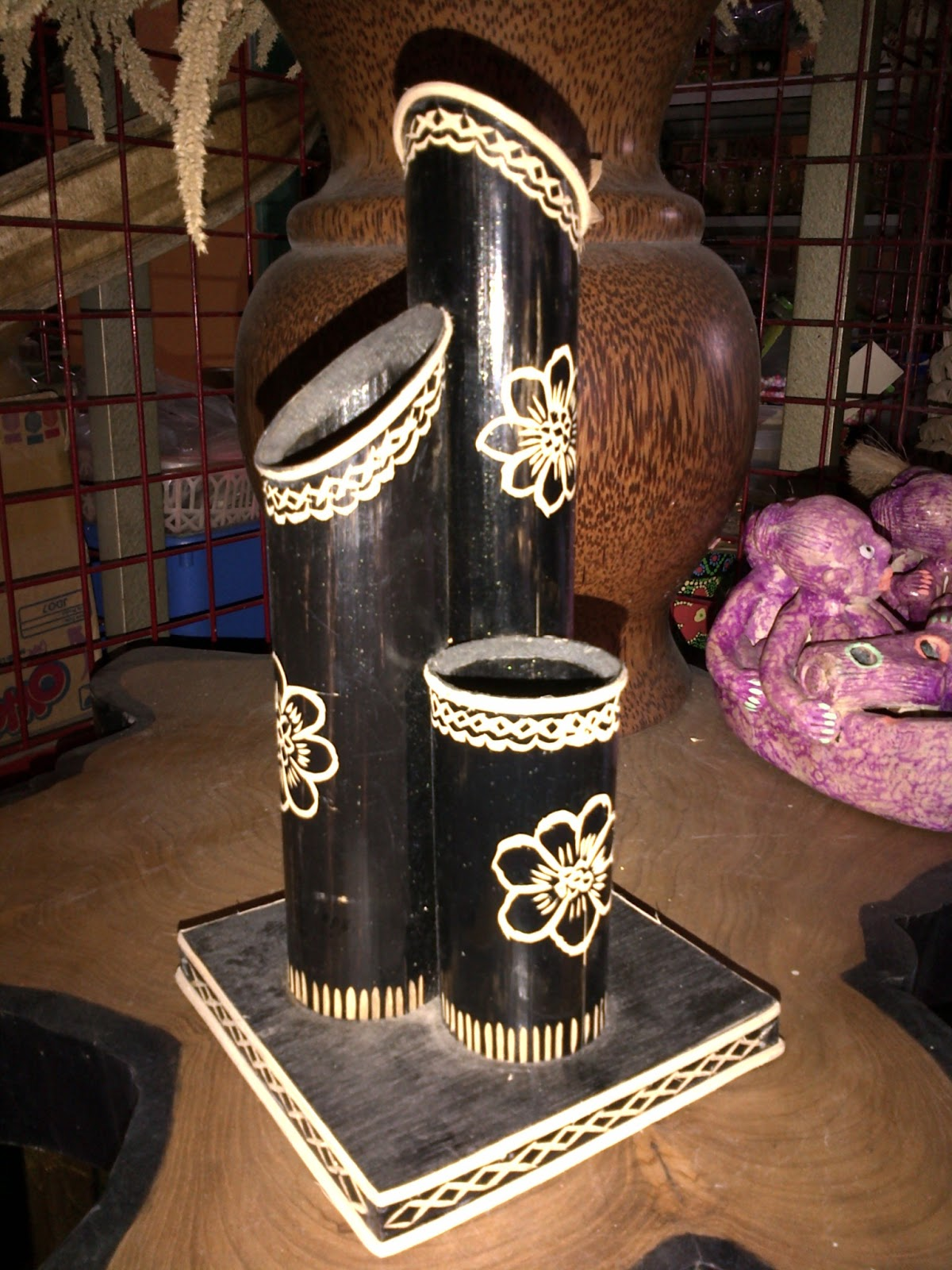 kerajinan bahan keras(bambu) - Jangan diliat